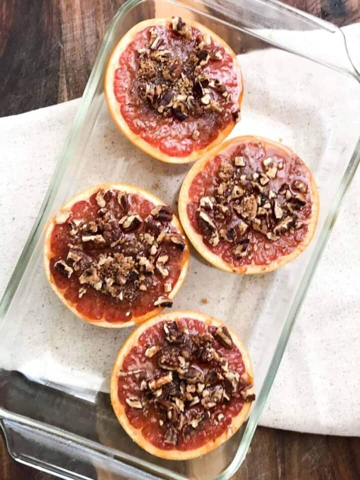 Bruleed Grapefruit for Two