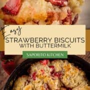 drop biscuits with fresh strawberries