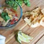 chicken tortilla soup and toppings