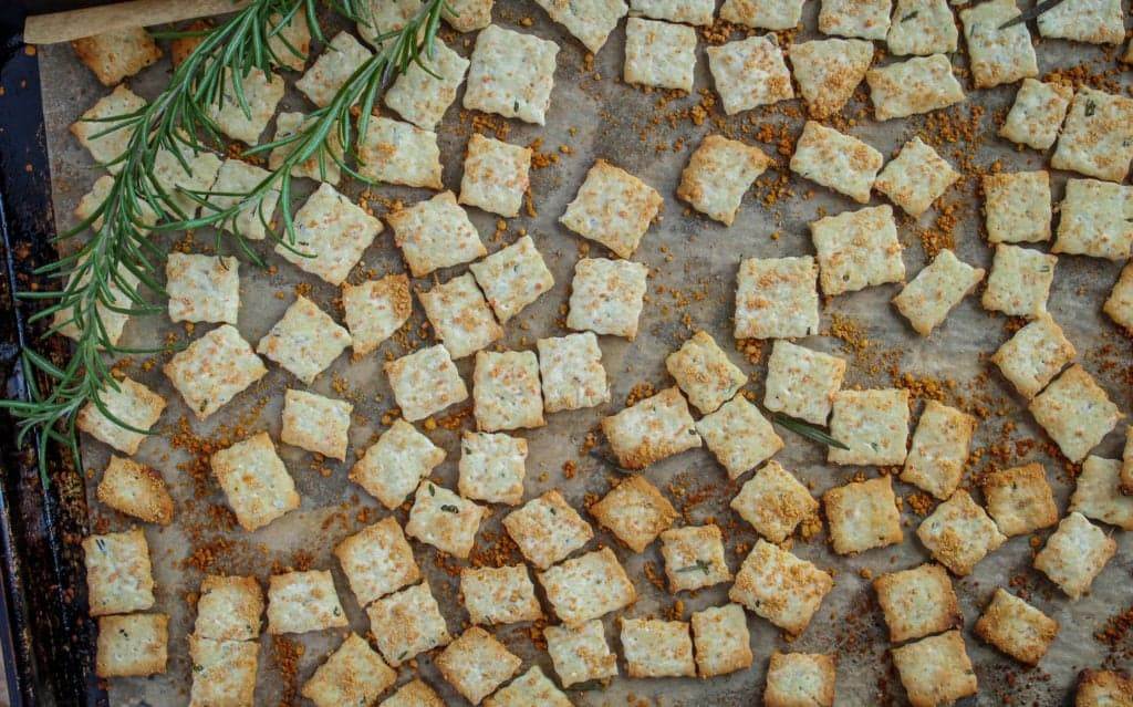 Parmesan Rosemary Crackers