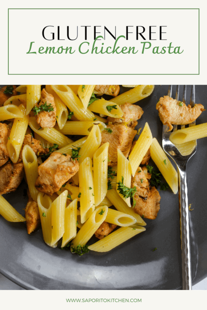 gluten free lemon chicken pasta by saporito kitchen
