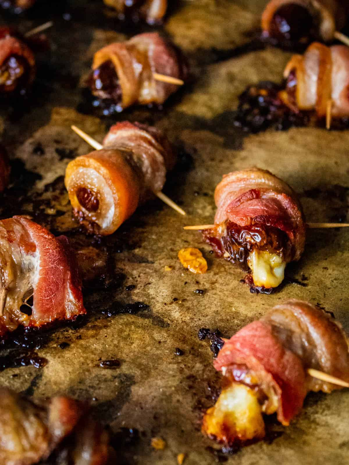 dates with bacon and manchego cheese