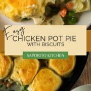 cast iron skillet pot pie with chicken and vegetables