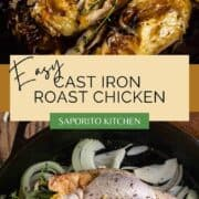whole chicken roasted in cast iron skillet