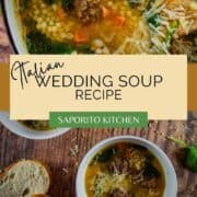 bowls of Italian wedding soup
