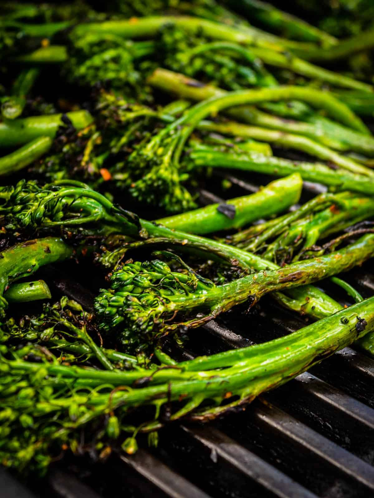 broccolini on the grill