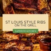 rack of ribs cut with barbecue sauce on them